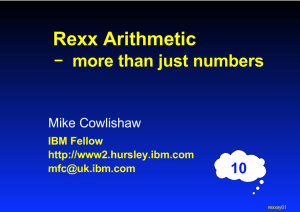 Rexx Arithmetic - The Rexx Language Association