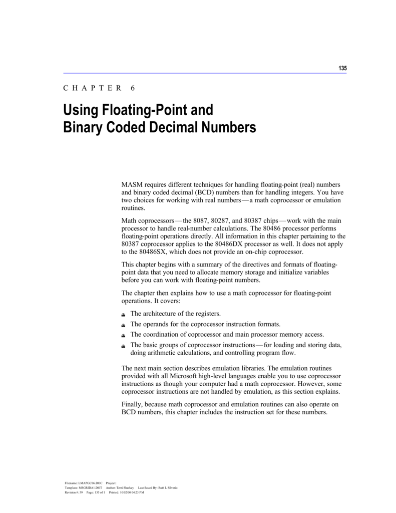 Chapter 6 Using Floating Point And Binary Coded Decimal Numbers Bcd To Converter Data