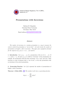 Permutations with Inversions