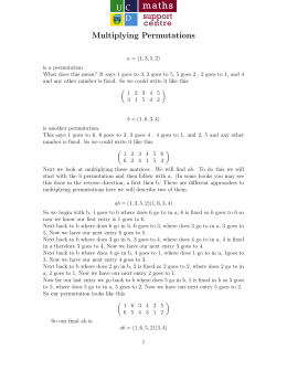 Multiplying Permutations