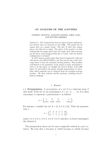 A  Even and odd permutations (brief summary) Recall that a