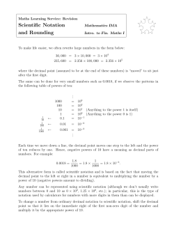 Scientific notation and rounding worksheet