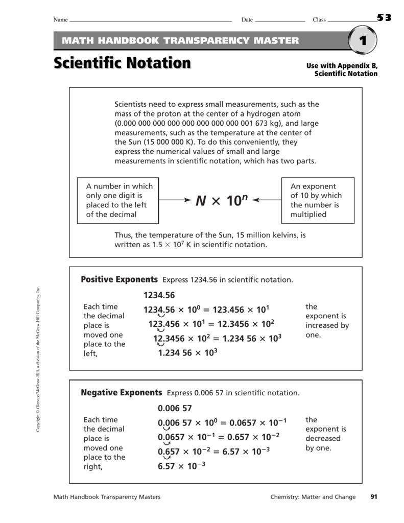 Converting To Scientific Notation Worksheet Worksheets for all ...