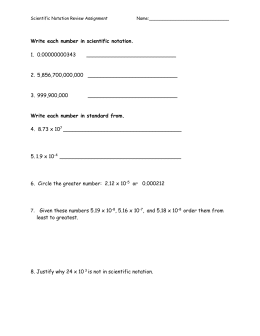 Scientific Notation Review Assignment