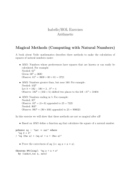 Computing with Natural Numbers
