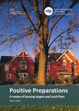 Positive Preparations - Nathaniel Lichfield & Partners
