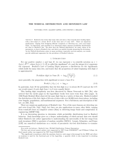 THE WEIBULL DISTRIBUTION AND BENFORD`S