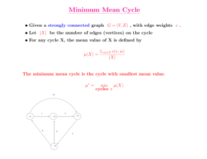 Minimum Mean Cycle