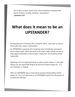 What does it mean to be an UPSTANDER?