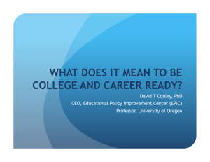 what does it mean to be college and career ready?