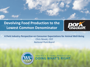 Devolving Food Production to the Lowest Common Denominator