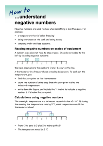 …understand negative numbers