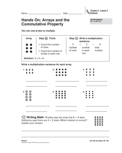 Hands On: Arrays and the Commutative Property