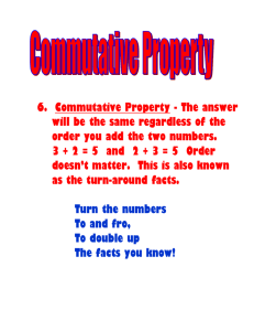 6. Commutative Property - The answer will be the same regardless
