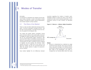 Modes of Transfer - African Development Bank