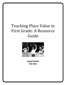 Teaching Place Value in First Grade: A Resource Guide