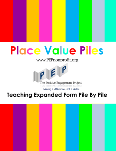 Place Value Piles - THE POSITIVE ENGAGEMENT PROJECT