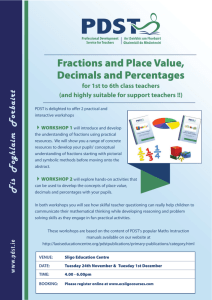 Fractions & Place Value - Sligo Education Centre