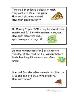 Fraction Word Problems - K-5MathTeachingResources.com