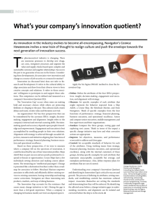 What`s your company`s innovation quotient?