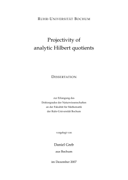 Projectivity of analytic Hilbert quotients - Ruhr
