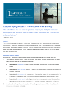 Leadership Quotient™ - Workbook With Survey