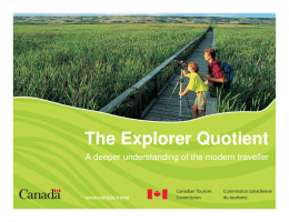 The Explorer Quotient
