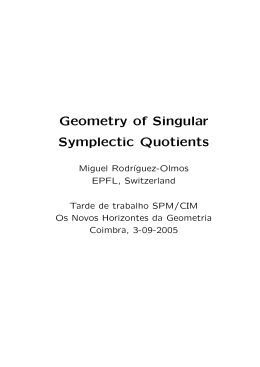 Geometry of Singular Symplectic Quotients