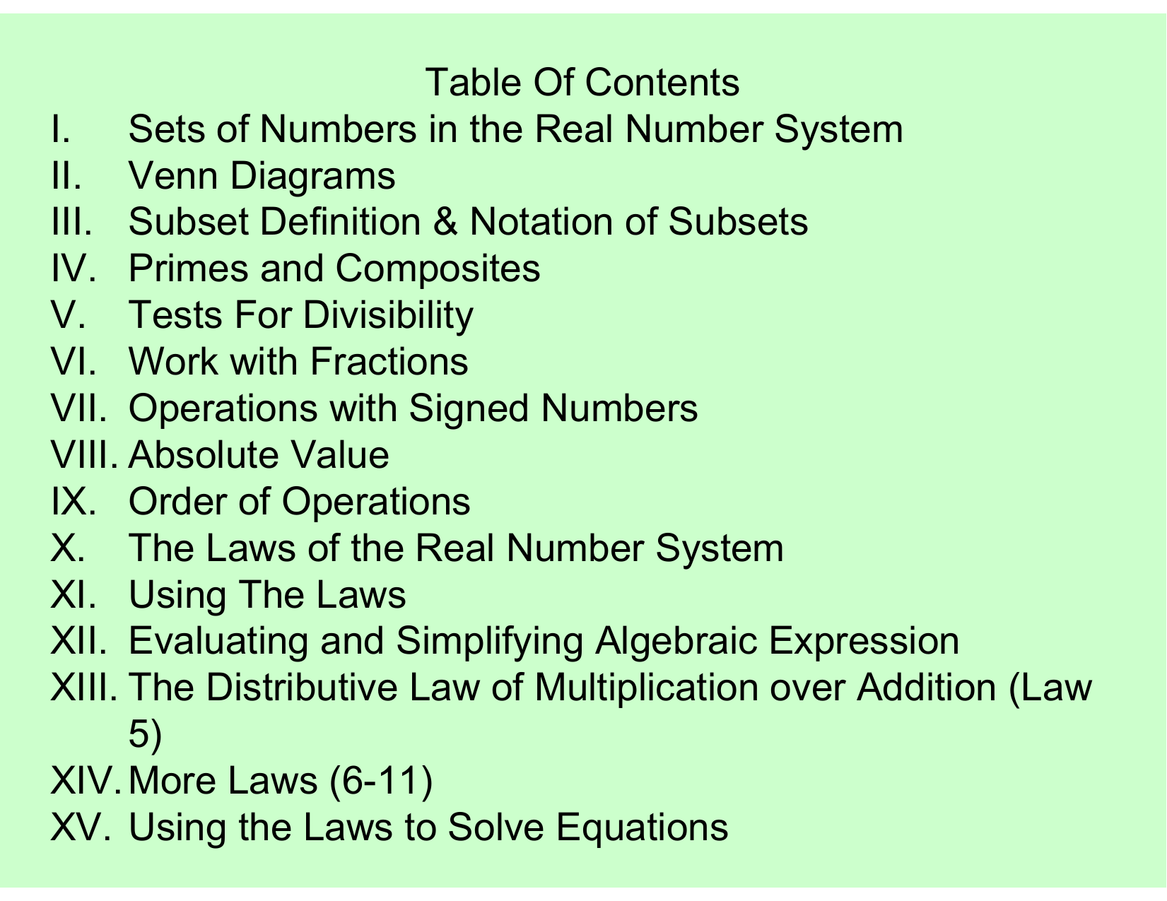 Table of contents i sets of numbers in the real number system ii pooptronica