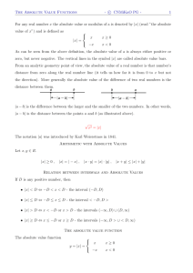 The Absolute Value Functions - c CNMiKnO PG