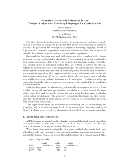 Numerical Issues and Influences in the Design of Algebraic