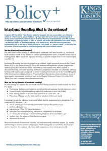 Intentional Rounding: What is the evidence?