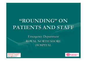 """Rounding"" on patients and staff ( pdf"