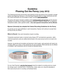 Guideline Phasing Out the Penny (July 2013)