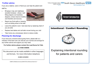 Intentional / Comfort Rounding - South Devon Healthcare NHS Trust