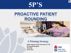 5p`s proactive rounding - Falls Prevention Network