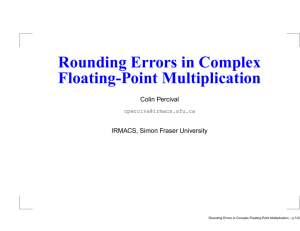 Rounding Errors in Complex Floating-Point