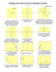 Folding the cube root of a complex number - Archive
