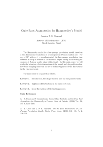 Cube Root Asymptotics for Hammersley`s Model