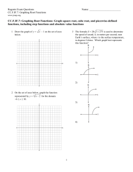 CC.F.IF.7: Graphing Root Functions: Graph square root, cube