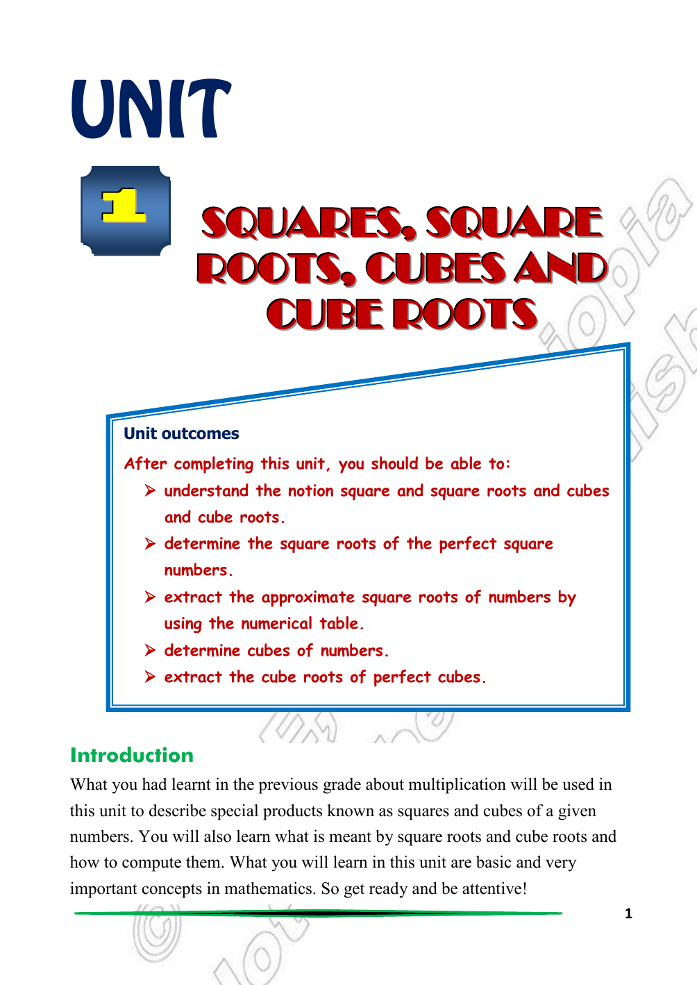 Squares Square Roots Cubes And Cube Roots