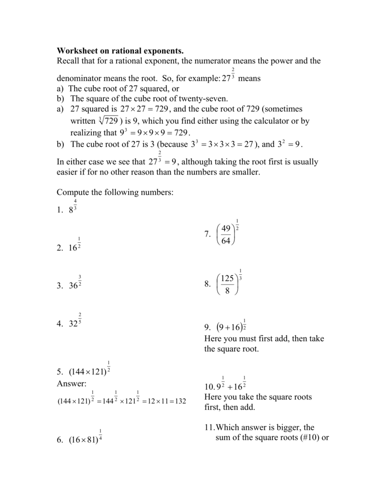 RR 11  Solving Radical Equations and Equations with Rational as well Rational Exponents Maze Worksheets   Teaching Resources   TpT in addition Simplifying Rational Exponents Worksheet Unique Algeic besides  likewise Worksheet on rational exponents likewise  further Free exponents worksheets together with alge 1 exponents worksheets – risatatourtravel besides 20 Rational Exponents and Radical Expression WORKSHEET as well  additionally Math Worksheets Rational Exponents Free Collection Of Printable Math likewise solving rational exponent equations math – luckypicks club as well 12 Best Images of Rational Exponents Worksheets With Answers in addition Glencoe Alge 2 Practice Workbook Answer Key Luxury Alge in addition Kuta Infinite Algebra 2 Simplifying Rational Exponents further equations with exponents worksheet – strategiccapitalpartners co. on rational exponents worksheet with answers