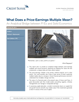 What Does a Price-Earnings Multiple Mean?