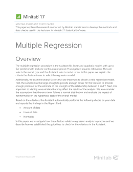 Multiple Regression - Support
