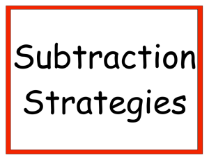 Subtraction - The Math Learning Center