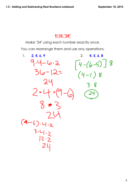 1.5 - Adding and Subtracting Real Numbers.notebook