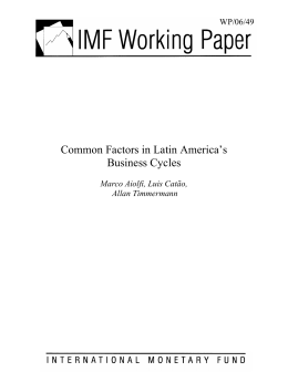 Common Factors in Latin America`s Business Cycles