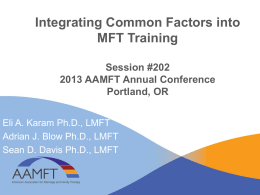 Integrating Common Factors into MFT Training