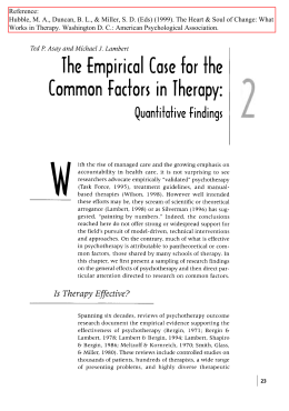 The empirical case for the common factors in therapy: Quantitative