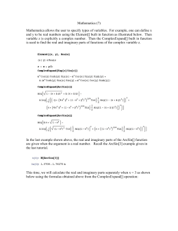 Mathematica (7) Mathematica allows the user to specify types of